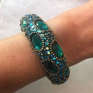 Jewelry - Peacock gemmed bangle ✨